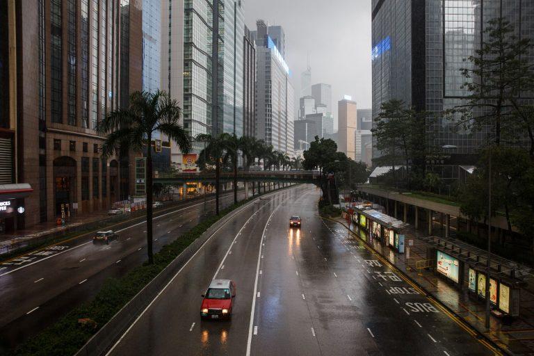 HONG KONG-WEATHER-TYPHOON