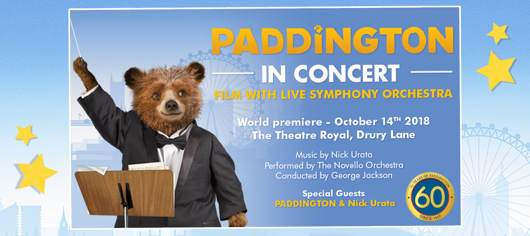 A Family Ticket to see Paddington in Concert
