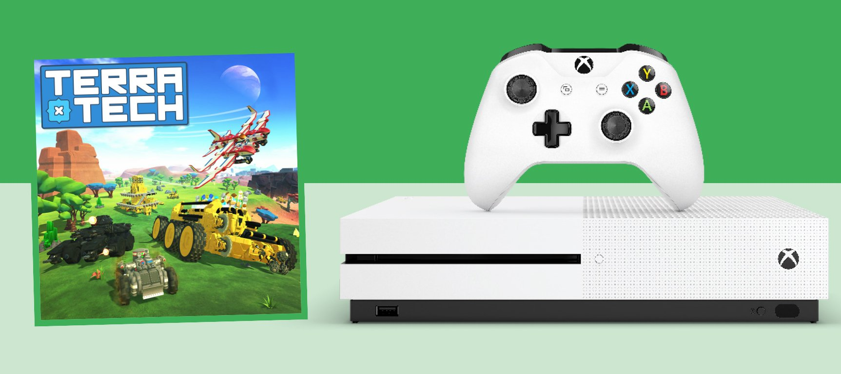 An XBOX ONE S and TerraTech Game