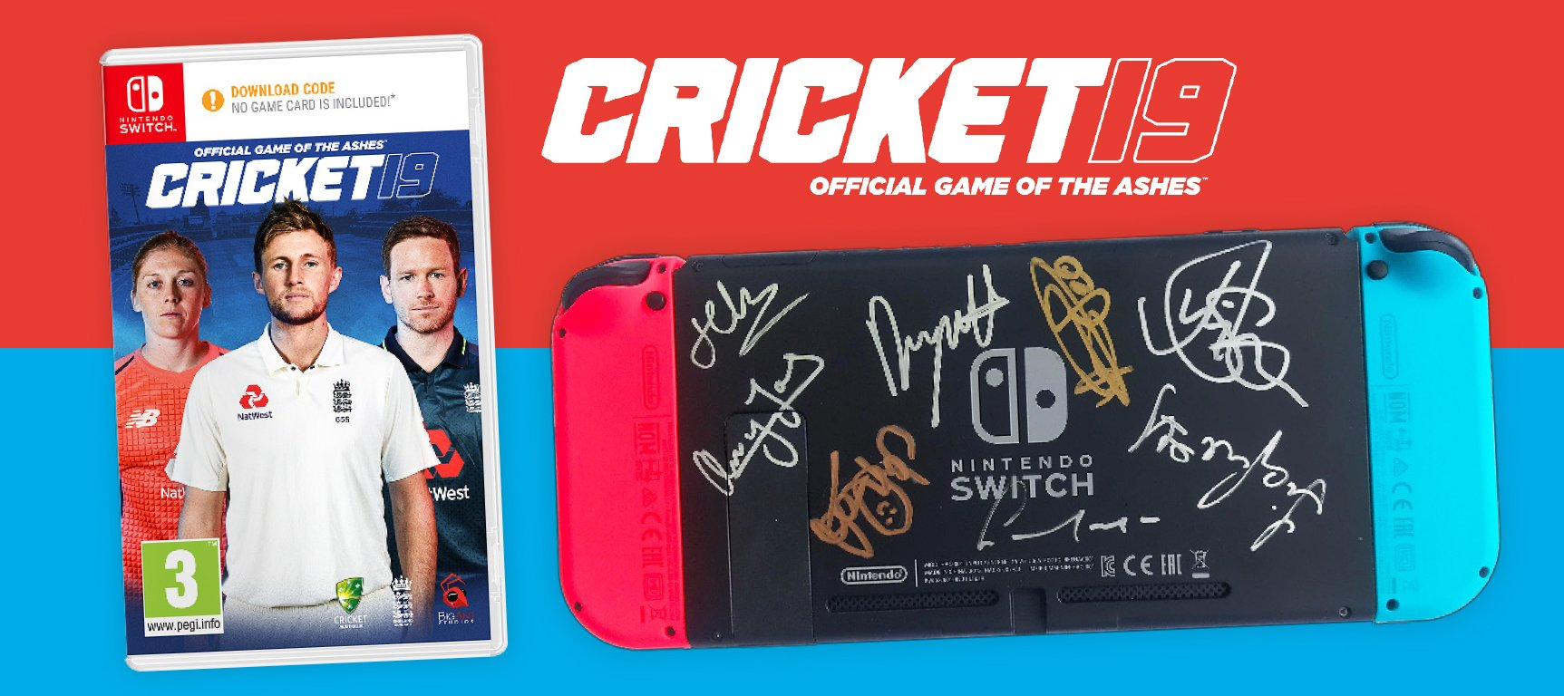 Cricket 19 Game Plus A Nintendo Switch Signed by the England Team